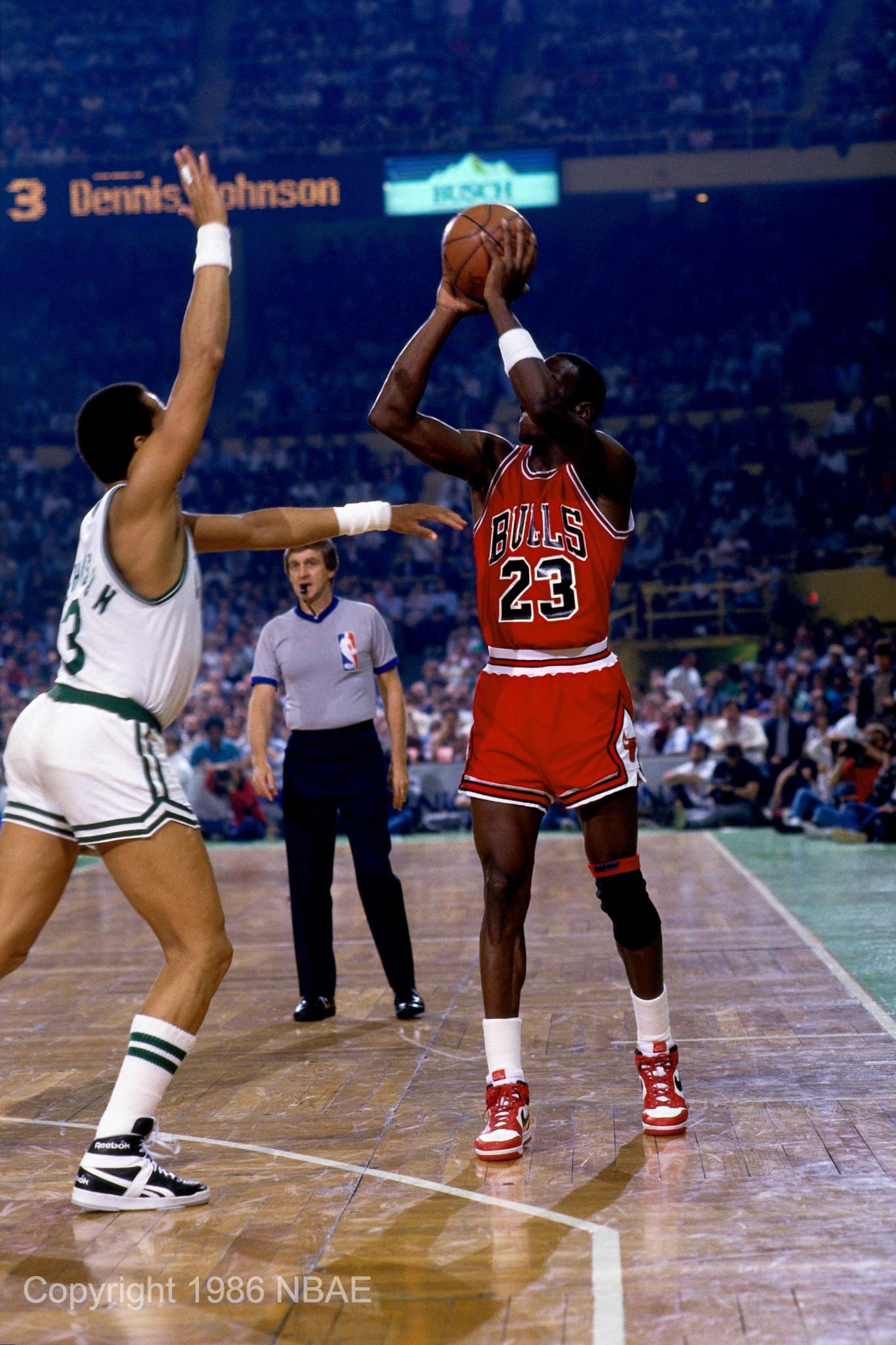 Jordan jumper vs. Celtics
