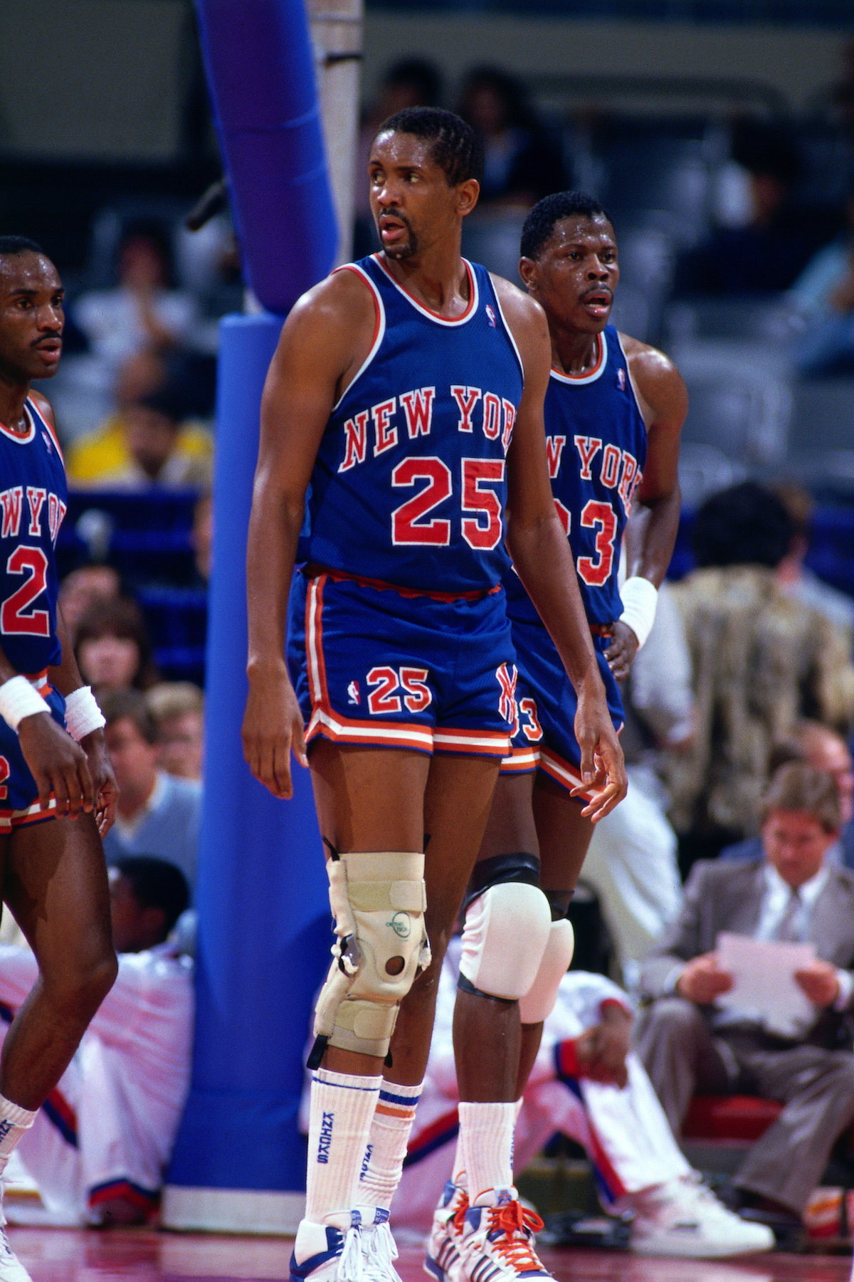 Bill Cartwright and Patrick Ewing in 1987