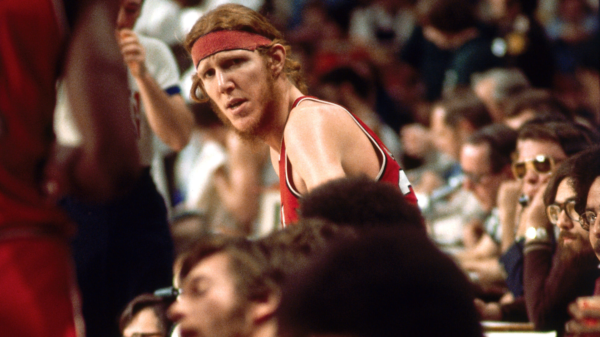 Bill Walton playing for the Portland Trail Blazers