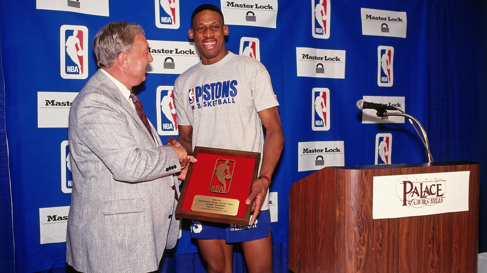 Dennis Rodman winning defensive player of the year