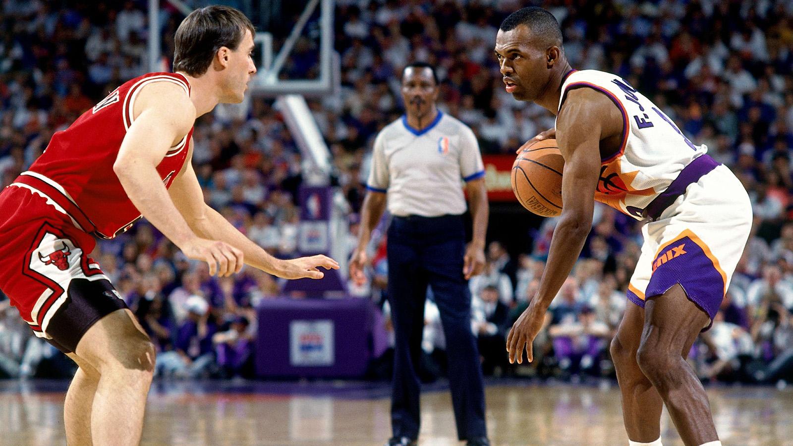 John Paxson playing defense