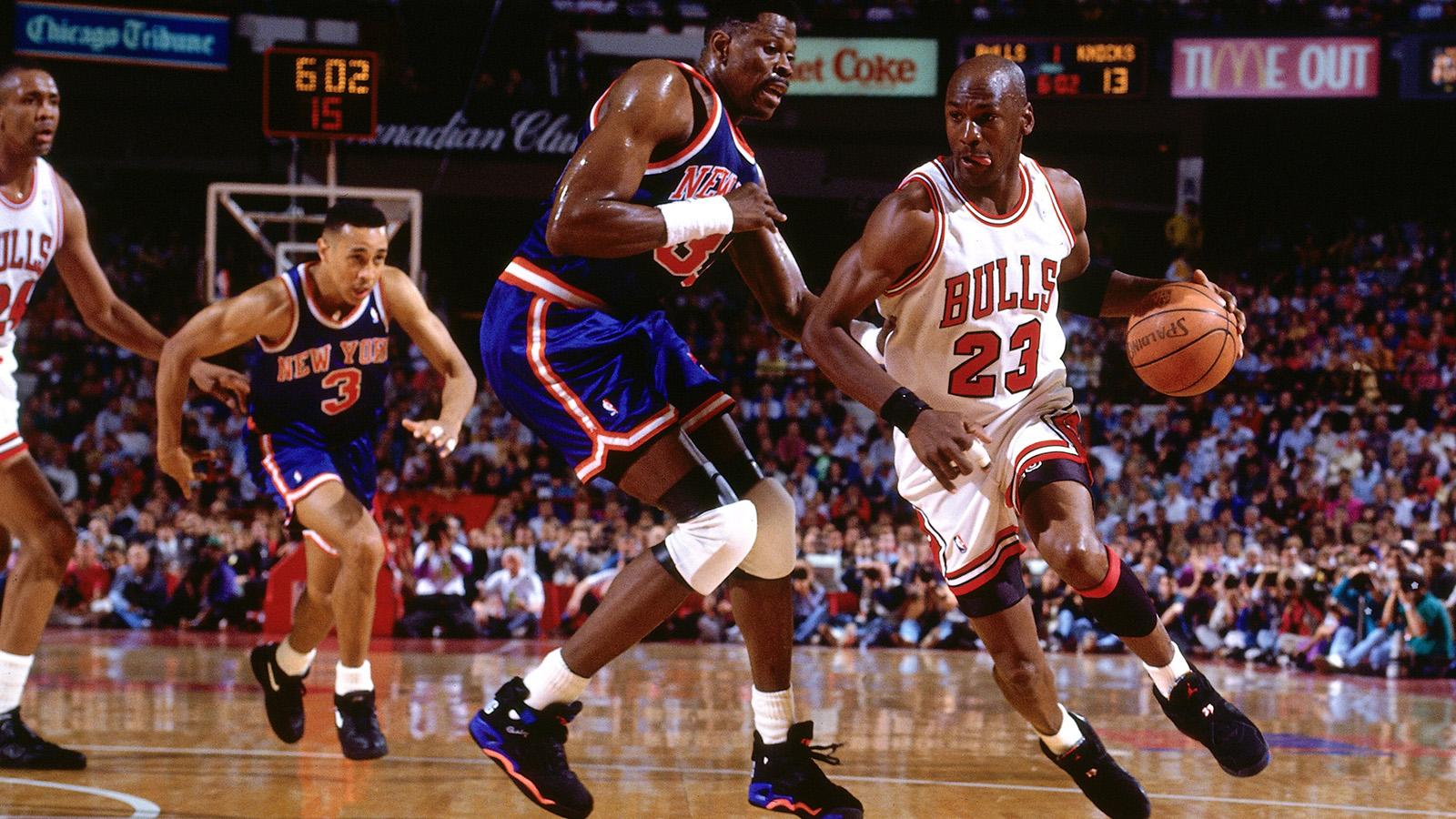Michael Jordan and Patrick Ewing